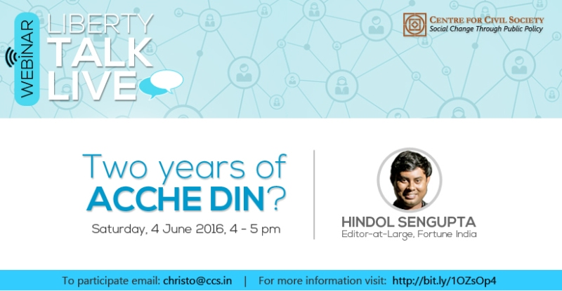 Webinar on 2 Years Of Achche Din?
