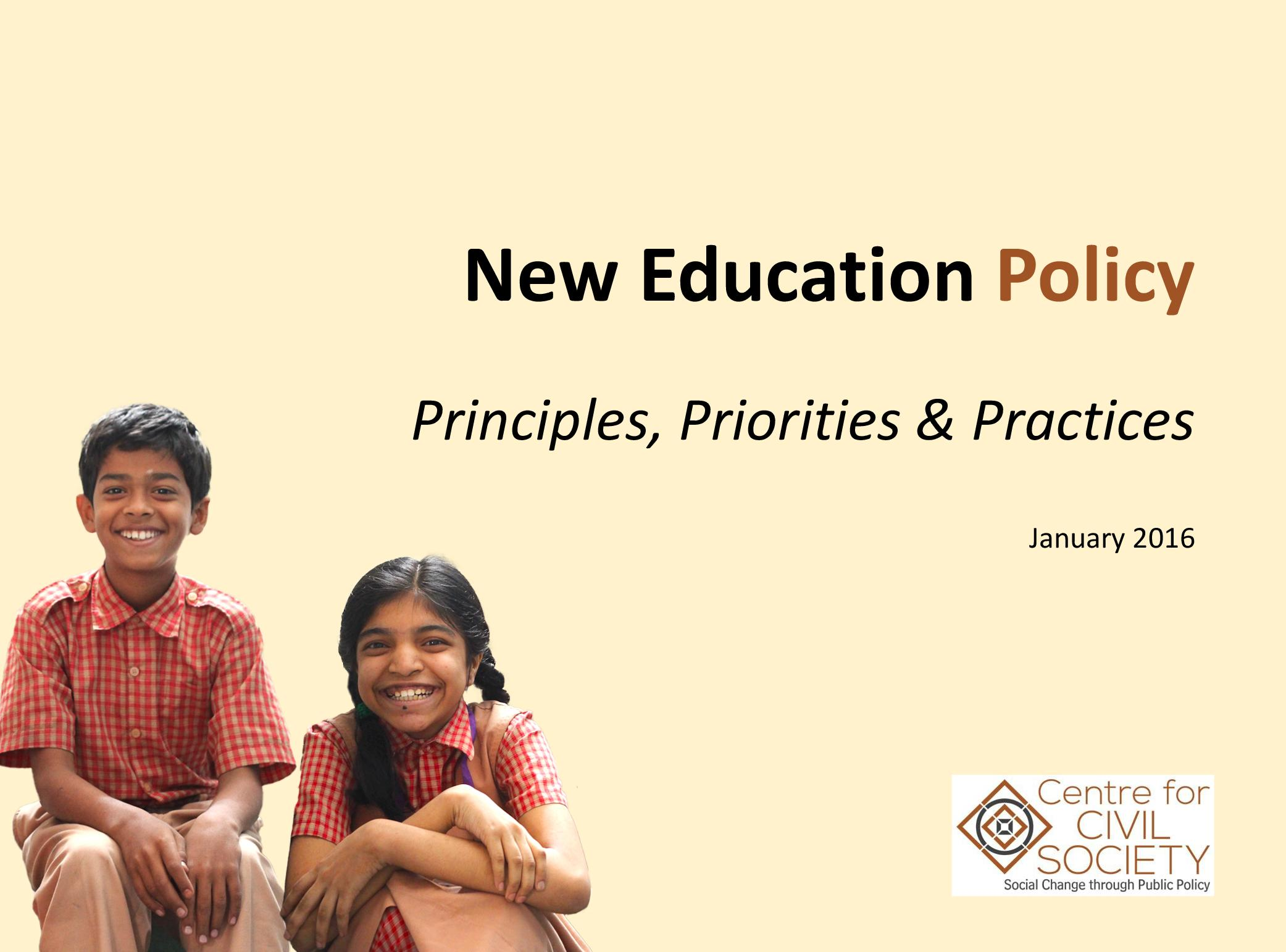 New Education Policy: Principles, Priorities & Practices | Brief by CCS